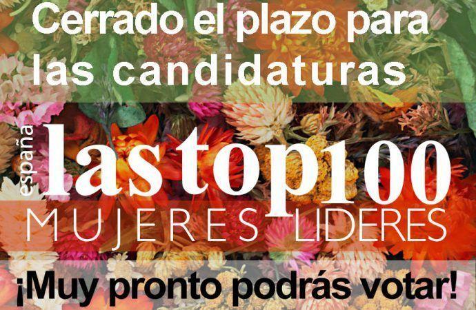 Cerrado el plazo de presentación de candidatas a Top 100