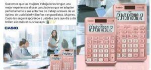 """Casio se disculpa por vender calculadoras rosa """"para mujeres trabajadoras"""""""