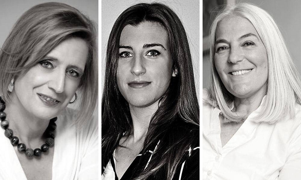 Eva Diaz, Sofía Ruiz y Mercedes Wullich